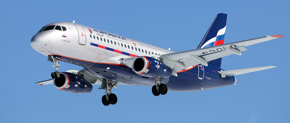 Sukhoi Superjet 100 in Aeroflot colours