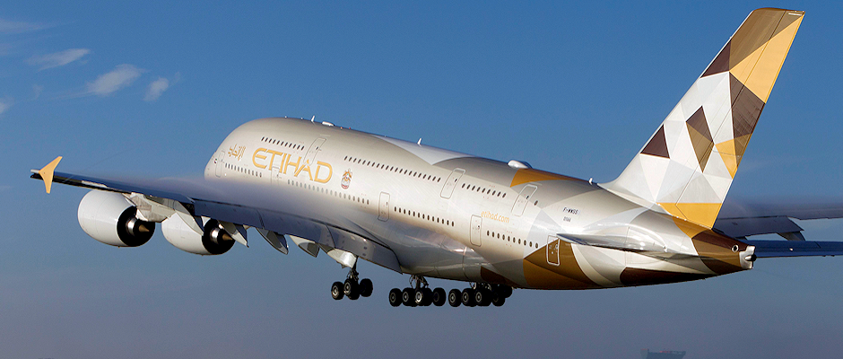 Abu Dhabi-based Etihad Airways is the 13th airline to receive the A380, and its no. 1 aircraft is the 150th A380 delivered by Airbus.